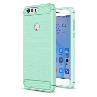Harga Moonmini Case for Huawei Honor 8 Carbon Fiber Pattern Soft TPU Back Case - Mint Green