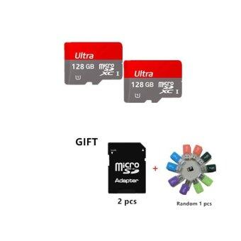 Harga Iceuinc Bundle 2 128GB Ultra Micro SD Class 10 Memory Card Flash Driver 128GB with Adapter +a Gift Card Reader