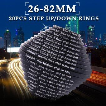 Harga XCSource 20pcs 26/30/37/43/52/55/62/67/72/77/82mm Step Up / Down Ring Filter UV Set DC162 - Intl