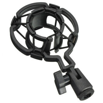 Harga New Arrival Universal Mic Studio Microphone Mic Shock Mount Holder for Large Diaphram Condenser Mic Clip