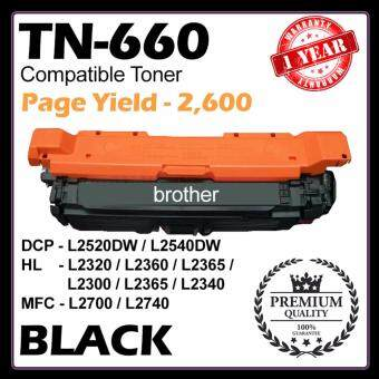 Harga (COMPATIBLE) TN-660 for Brother Laser Black Toner Cartridge HL-L2300D / HL-L2365DW / HL-L2340DW / HL-L2320D / HL-L2360DW / HL-2380DW / DCP-L2520DW / DCP-L2540DW / MFC-L2680W / MFC-L2700DW / MFC-L2705DW / MFC-L2707DW / MFC-L2720DW / MFC-L2740DW