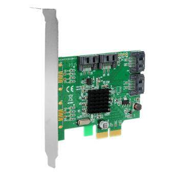 Harga IOCREST Marvell 88SE9235 Chipset SATA III 4-Port PCI-e Version 2-Slot Controller Card - Green