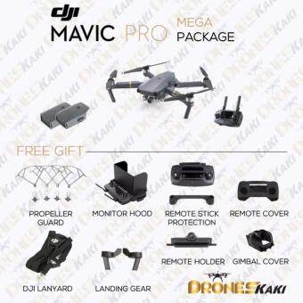 Harga (Ready Stock) DJI Mavic Pro Mega Package + Free Gifts (Official DJI Malaysia Warranty)