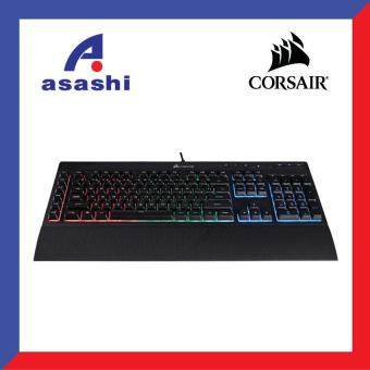 Harga Corsair Gaming K55 RGB Backlit Gaming Keyboard 6 Marco Key (CH-9206015-NA)