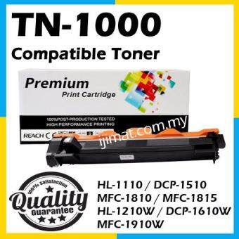 Harga Compatible Laser Toner Brother TN1000 / TN-1000 Compatible Toner Cartridge For Brother HL-1110 / DCP-1510 / MFC-1810 / MFC-1815 / HL-1210W / DCP-1610W / MFC-1910W Printer Toner