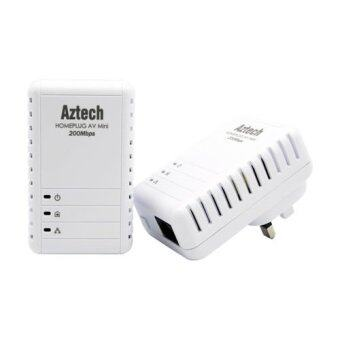 Harga Aztech HL113E Twin 200Mbps Homeplug AV Ethernet Portable Adapter