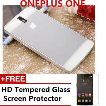 Harga METAL BUMPER ALUMINIUM BACK CASE WITH HD TEMPERED GLASS SP FOR ONE PLUS ONE ONEPLUS 1