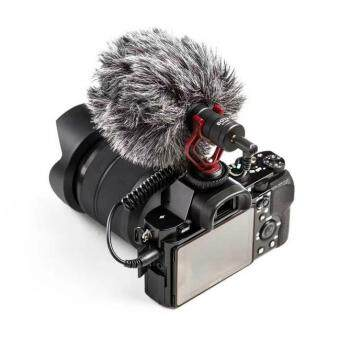 Harga BOYA BY-MM1 Condenser Microphone Feature Cardioid with Furry Windshield for DSLR Cellphone Camcorders PC