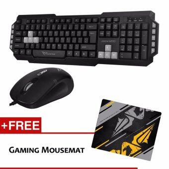 Harga Alcatroz Xplorer M550 Multimedia Gaming Keyboard (Grey) and Asic 3 High Resolution Optical Mouse (Black Grey) and Free Mousemat