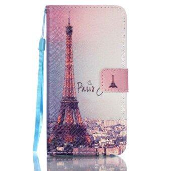 Harga Moonmini Flip Cover Leather Case for Samsung Galaxy J5(2016) J510 (Eiffel Tower)