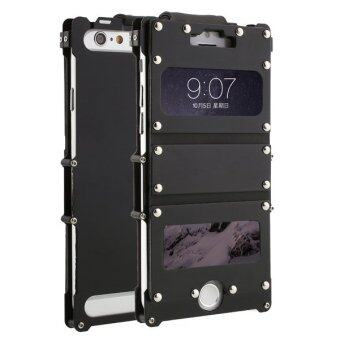Harga ARMOR KING Metal Element Flip Aluminum Cover Case For iPhone 6 Plus Black
