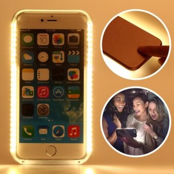 Harga Luxury LED Flash Fill Light Up Selfie Case For Apple iPhone 6/6s cases Covers housing shell bags (Rose Gold)