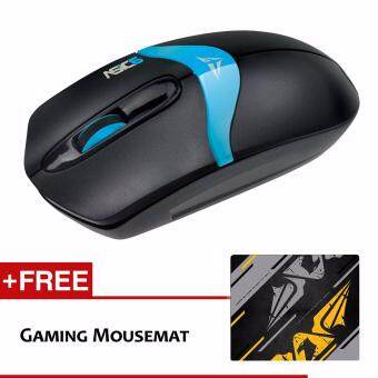 Harga Alcatroz Asic 6 High Resolution Optical Mouse Free Mousemat (Black Blue)
