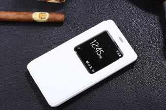 Harga Moonmini PU Leather Flip Cover for Meizu M1 Note (White)
