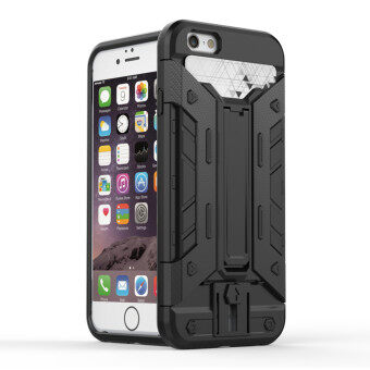 Harga GuluGuru for Apple iPhone 6 6S Case [X-Armour Card Slot] PC+TPU Hybrid Back Cover with Kickstand Holder + Card Storage Slot Armor Cell Phone Case