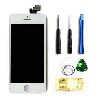Harga LCD Display Touch Screen Digitizer Assembly with Frame Replacement Cell Phone Parts for iPhone 5s(White)