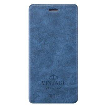 Harga Mofi Ultra Thin Crash Proof Stand Slim Flip Up Bracket Inside Card Slot PU Leather & Soft TPU Cover Case Shell Compatible for Asus Zenfone Selfie / ZD551KL (Dark Blue)