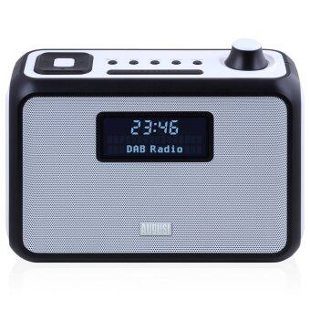 Harga August MB400 - DAB/DAB+ Radio with NFC Bluetooth Wireless Speaker, Alarm Clock and FM Tuner - Portable Radio and MP3 Player: SD Card Reader / 3.5mm Audio In - Compact Stereo System (Black)