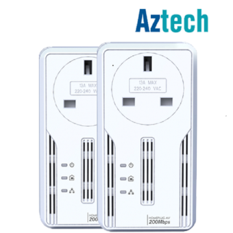 Harga Aztech HL113EP HomePlug Ethernet Adapter (2 units)