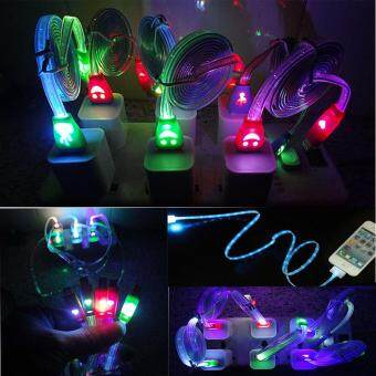 Harga USB LED Smile Face Cable for iPhone 5 5s 6 6S 7 iPad Mini Apple