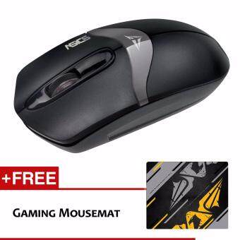 Harga Alcatroz Asic 6 High Resolution Optical Mouse Free Mousemat (Black Grey)