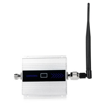 "Harga 1.5"" LCD 2G / 3G / 4G Cell Phone Lightning-Proof Signal Booster - Silver + Black"