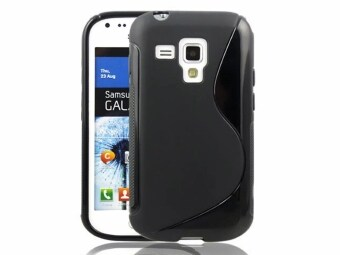 Harga Moonmini Case for Samsung Galaxy Trend Plus s7580 - Black S-line TPU Gel Case Cover Protector