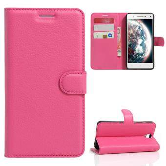 Harga Moonmini Case for Lenovo Vibe S1 Lite Case Wallet Stand Leather Case Flip Cover - Hot Pink