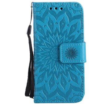 Harga Annoda Soft TPU Inner and PU Leather Flip Full Body Stand Wallet Cover for iPod Touch 5/6 Generation,Pack of 1-Blue