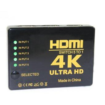Harga 4K HDMI 5 in 1 Out HDMI Hub Switch Splitter w/ IR Remote control