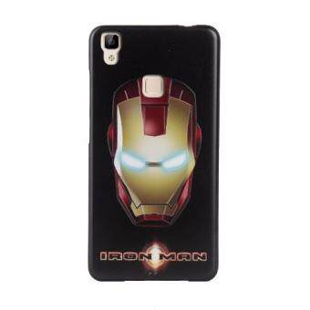 Harga For Vivo V3 Max TPU 3D Painting Cover Case(Iron Man)