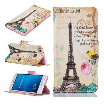 Harga Painting PU Leather Wallet Flip Cover Case for Huawei Ascend P9 Lite(Paris tower)