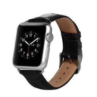 Harga Benks Authentic Calf Leather Strap 42mm (Black) for Apple Watch
