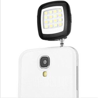 Harga LED Lights Flash for SmartPhone Camera Multiple Photography Mini Selfie Sync Flash LED Speedlight for iPhone 5S 6S (Black)