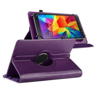 Harga Purple 360 Degree Rotating 7 7 inch Leather Cover with Swivel Stand Premium PU Synthetic Leather Flip Case for Apex 7 /Samsung Galaxy Tab 7 GT-P1000/7.0 Plus GT-P6200/Tab 3 7 LTE