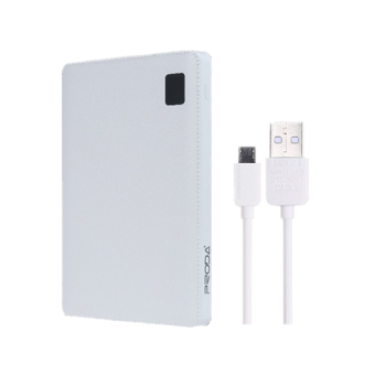 Harga Bundle Remax Proda Notebook Portable Slim 30000mAh 4 USB Ports Power Bank(WHITE) + remax fast charging cable