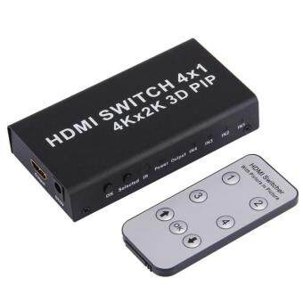 Harga 4K HDMI Switch 1.4b 4 In 1 Out Switcher With Picture-in-Picture (PIP) Function HD 4K*2K 3D PIP Switcher Converter, With Remote Control