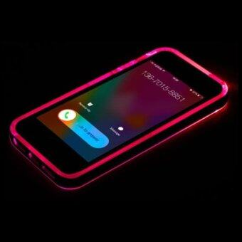Harga LED Light UP Frame Phone TPU Silicone Case Cover for iPhone6/6S Plus iPhone5/5S