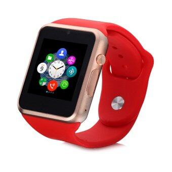 Harga (2016 New Version - Original) ZenGear 2016 New Version A1 Bluetooth SmartWatch With SIM Phone Call ,Take Selfie for iPhone and Android Smartphones (Red)
