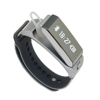 Harga TalkBand K2 Bluetooth Smart Bracelet Wristband Fitness Tracker (Grey)