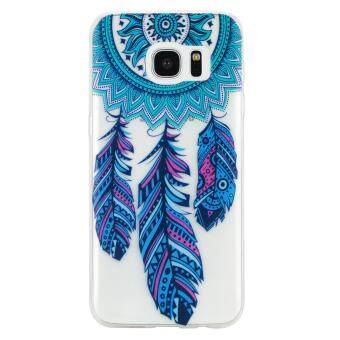 Harga Fashion Style Colorful Painted Colorful TPU Case Back Cover Protector Skin for Samsung Galaxy S7 Edge
