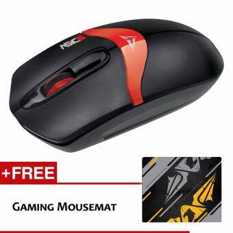 Harga Alcatroz Asic 6 High Resolution Optical Mouse Free Mousemat (Black Red)
