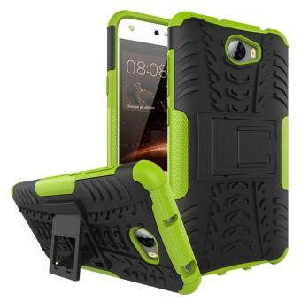 Harga Moonmini Case for Huawei Y5II / Huawei Y5 2 Kickstand Combo Armor High Impact Case - Green