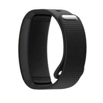 Harga Replacement Watch Wrist Bands for Samsung Gear Fit2 Fit 2 SM-R360 Fitness Activity Tracker Sport Smart Straps Watch Accessories (Black)