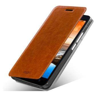 Harga MOFI Rui Series Flip Stand Leather Case for Lenovo A916 - Brown