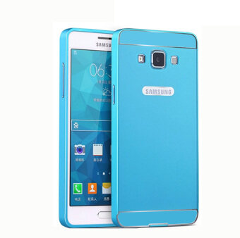 Harga Moonmini Case for Samsung Galaxy E7 Metal Bumper Frame Case + Hard PC Back Cover Protector (Blue)