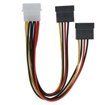 Harga 1pc New 4 Pin IDE Molex to 2 Serial ATA SATA HDD Drive Power Adapter Cable -