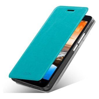 Harga MOFI Rui Series Flip Stand Leather Phone Case for Lenovo A916 - Blue