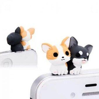 Harga Phone Charms 3.5 mm Dust Plug For iPhone 4 4S 5 5S 6 6s Gemini Dog