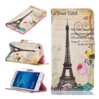 Harga Painting PU Leather Wallet Flip Cover Case for Huawei Honor 5A(Paris tower)